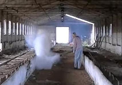 Промышленный генератор холодного тумана